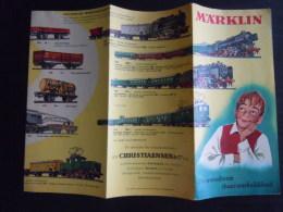 Reclame Folder Dépliant Marklin Modeltreinen Trains 2 X A4 - Other