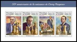 GUINEA REP. 2018 MNH** Garry Kasparov Chess Schach Echecs M/S - OFFICIAL ISSUE - DH1822 - Schaken