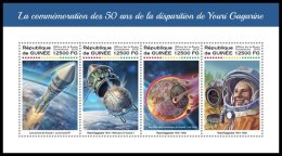 GUINEA REP. 2018 MNH** Yuri Gagarin Space Raumfahrt Espace M/S - IMPERFORATED - DH1822 - Afrika