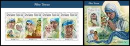 GUINEA REP. 2018 MNH** Mother Teresa Mutter Teresa Mere Teresa M/S+S/S - IMPERFORATED - DH1822 - Mother Teresa