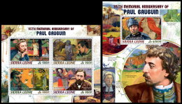 SIERRA LEONE 2018 MNH** Paul Gauguin Painter Maler Peintre M/S+S/S - IMPERFORATED - DH1822 - Sonstige