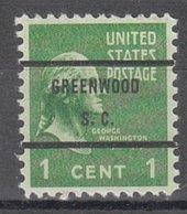USA Precancel Vorausentwertung Preo, Bureau South Carolina, Greenwood 804-71 - Vorausentwertungen