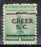 USA Precancel Vorausentwertung Preo, Locals South Carolina, Greer 701 - Vereinigte Staaten