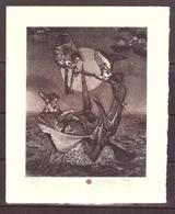 Robert Baramov 2003  C3,C5  Mm145x118   Naufragio -Sirene E Mostro - Ex Libris