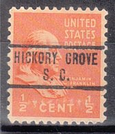 USA Precancel Vorausentwertung Preo, Locals South Carolina, Hickory Grove 734 - Vereinigte Staaten