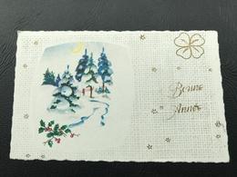 BONNE ANNEE Paysage Enneigé - Neujahr