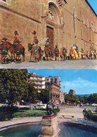 Arezzo - Lotto 2 Cartoline GIOSTRA DEL SARACINO PORTA CRUCIFERA, LA CHIMERA CON GIARDINI, Anni '70 - P49 - Arezzo