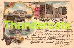 CPA LITHO SOUVENIR DE BOULOGNE SUR MER CARL KUNZLI ZURICH SUISSE 1899  ( GRAND PLI ) - Boulogne Sur Mer