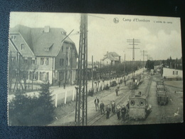 ELSENBORN : L'entrée Du Camp Avec La Gare En Gros Plan En 1926 - Elsenborn (Kamp)