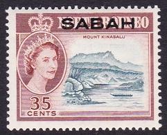 Malaysia-Sabah SG 417 1964 Queen Elizabethh II Overprinted Sabah, 35c Slate-blue And Red-brown, Mint Hinged - Sabah