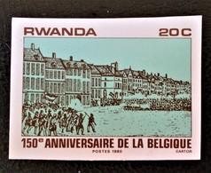 INDEPENDANCE DE LA BELGIQUE 1980 - NEUF ** - YT 958 - MI 1077 - NON-DENTELE - Rwanda