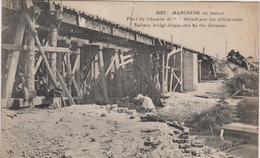 CPA B16 MARCOING En Ruines Pont Du Chemin De Fer Détruit-railway Bridge Dejuannted By The Germans-1 Ouvrier - Marcoing