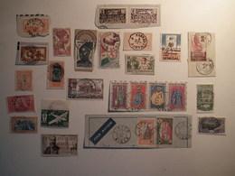Lot Timbres Ex Colonies Française Avec Belles Oblitérations. - Stamps