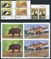 1990 - BHUTAN-  PANDA & ANIMALS -  10 VAL.- M.N.H. - LUXE !! - Bhutan