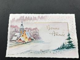 BONNE ANNEE 1970 Village Enneigé - Neujahr