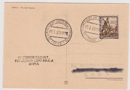 IV° Congresso Int. Patologia Comparata, Roma 1939, Annullo Speciale - F.G. - Expositions Philatéliques