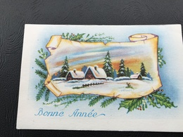 BONNE ANNEE Village Enneigé - Neujahr