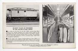 - CPA SEVENTY YEARS OF PROGRESS IN THE RAILWAY POST OFFICE - - Trains