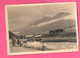Treno Elettrico San Giorgio Di Brunico Torrente Aurino Val Pusteria Pustretal 1954 Gita Trip - Places