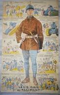 SERIE COMPLETE De 10 CPA FANTAISIE Illustrateur - Puzzle Militaire Militaria - LA VIE GAIE AU REGIMENT - Humour