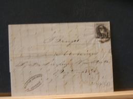 77/323 LETTRE DE OSTENDE POUR BRUGGE  1854 AVEC CONTENU - 1858-1862 Medaillen (9/12)
