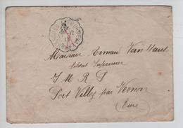 Guerre-Oorlog 14-18 Lettre S.M. écrite De Chérence Le Roussel C.Ambt Avranches-Sourdeval 1915 V.Infirmier Port Villez - Weltkrieg 1914-18