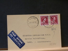 77/326  CP POUR VADUZ 1952 - Belgique