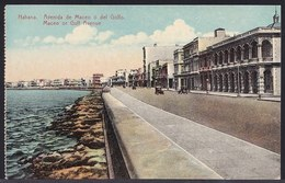 OLD CPA HABANA - HAVANE ** AVENIDA DE MACEO O DEL GOLFO ** GULF AVENUE - Cuba