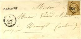 PC 2624 / N° 1 Bistre Brun Cursive 9 / Ramerupt Dateur B. 1852. - TB. - 1849-1850 Ceres
