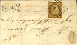 PC 2215 / N° 1 (leg Def) Cursive 11 / Najac, B Rur B Sur Lettre Locale Avec Texte Daté De St André De Najac Pour Villefr - 1849-1850 Ceres