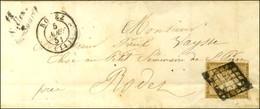 Grille / N° 1 Def Càd T 15 RODEZ (11) Cursive 11 / Salles / La Source Sur Lettre Locale Pour Rodez. 1851. - TB. - 1849-1850 Ceres