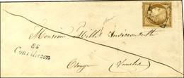 Grille / N° 1 Cursive 86 / Courthezon Sur Lettre Locale Pour Orange. 1851. - TB. - R. - 1849-1850 Ceres