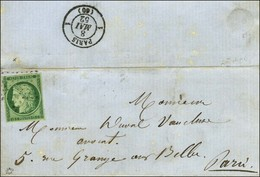 Etoile / N° 2 Sur Lettre De Paris Pour Paris, Au Verso Càd D'arrivée 1 PARIS 1 (60) 8 MAI 52. - TB / SUP. - R. - 1849-1850 Ceres