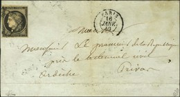 Grille / N° 3 Càd PARIS (60) 16 JANV. 49. - TB. - 1849-1850 Ceres