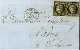 Grille / N° 3 (2, 1 Ex Def) Càd T 15 AMIENS (76) 27 JANV. 49. - TB. - 1849-1850 Ceres
