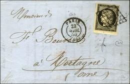 Grille / N° 3 Bdf Càd PARIS (60). 1850. - TB / SUP. - 1849-1850 Ceres