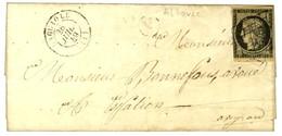 Grille / N° 3 (pd) Càd T 15 LAGUIOLE (11) B Rur A Sur Lettre Avec Texte Daté Albouze Le 28 Juillet 1849 Pour Espalion. - - 1849-1850 Ceres