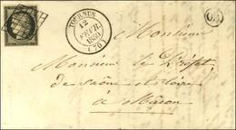 Grille / N° 3 Càd T 14 TOURNUS (70) Sur Lettre Avec Texte Pour Macon. 1850. - SUP. - 1849-1850 Ceres