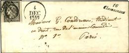 Grille / N° 3 Belles Marges Cursive 16 / Chevanceaux Dateur A. 1849. - TB / SUP. - R. - 1849-1850 Ceres