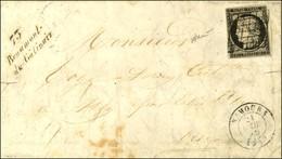 Grille / N° 3 Càd T 15 NEMOURS (73) Cursive 73 / Beaumont / Du Gatinais. 1849. - TB / SUP. - 1849-1850 Ceres