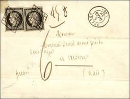 Grille / N° 3 (2) Càd T 15 ORANGE (86). Taxe 6 Sur Lettre 3 Ports Insuffisamment Affranchie Pour Nimes. Mention Manuscri - 1849-1850 Ceres