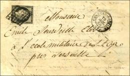 Grille / N° 3 Infime Def Càd T 15 CHATEAU GONTHIER 51 19 JUIL. 50 Sur Lettre Au Tarif Réduit De Militaire (après Le 1 Ju - 1849-1850 Ceres