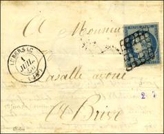 Grille / N° 4 Infime Froissure Càd T 15 LUBERSAC (18) 1 JUIL. 50 (1 Jour Du Changement De Tarif). - TB. - R. - 1849-1850 Ceres