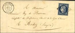 Grille / N° 4 Càd T 15 LAISSAC (11) Sur Lettre Avec Texte Pour Rodez. 1851. - SUP. - 1849-1850 Ceres