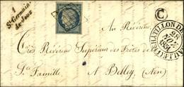 Grille / N° 4 Càd T 13 CHATILLON DE MICHAILLE (1) Cursive 1 / St Germain / De Joux, B Rur C Sur Lettre Avec Texte Daté D - 1849-1850 Ceres