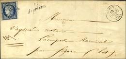 Grille / N° 4 Def Càd T 15 AUBIN (11) Cursive 11 / Asprières Sur Lettre Avec Texte Pour Figeac. 1851. - TB. - 1849-1850 Ceres