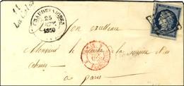 Grille / N° 4 Belles Marges Càd T 14 CHAUDESAIGUES (14) Cursive 11 / La Calm Sur Lettre Adressée Au Ministre De La Marin - 1849-1850 Ceres
