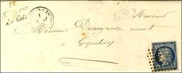PC 2972 / N° 4 Càd T 15 ENTRAYGUES-S-TRUYERE (11) Cursive 11 / St Amans / Des-Cots Sur Lettre Avec Texte Pour Espalion.  - 1849-1850 Ceres
