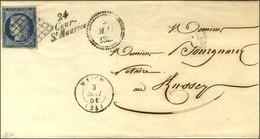 Grille / N° 4 Càd T 15 MAICHE (24) Cursive 24 / Cour-/ St Maurice Dateur B. 1851. - SUP. - 1849-1850 Ceres