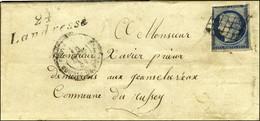 Grille / N° 4 (def) Cursive 24 / Landresse Sur Lettre Pour Russey. 1851. - TB. - 1849-1850 Ceres